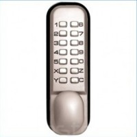 Keyless Digital Door Lock - Weatherproof - Satin Chrome