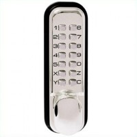 Keyless Digital Door Lock - Weatherproof - Polished Chrome