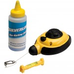 Silverline Chalk Line Set Fast Rewind - 3 Piece
