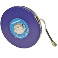 Silverline Surveyors Tape Measure Fibre 10 Metre