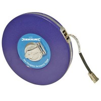 Silverline Surveyors Tape Measure Fibre 30 Metre