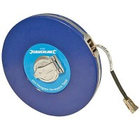 Silverline Surveyors Tape Measure Fibre 50 Metre