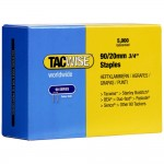 Tacwise Type 90 Narrow Crown Staples 20mm - 5000 Pack