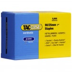 Tacwise Type 90 Narrow Crown Staples 25mm - 5000 Pack