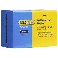 Tacwise Type 90 Narrow Crown Staples 30mm - 5000 Pack