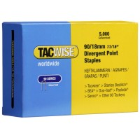 Tacwise Type 90 Narrow Crown Staples Divergent Point 18mm - 5000 Pack