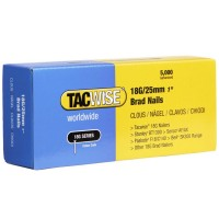 Tacwise 18 Gauge Galvanised Smooth Brad Nails 25mm - 5000 Pack