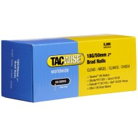 Tacwise 18 Gauge Galvanised Smooth Brad Nails 50mm - 5000 Pack