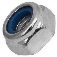 Hexagonal Zinc Plated Nylon Locking Nuts M5 - 100 Box