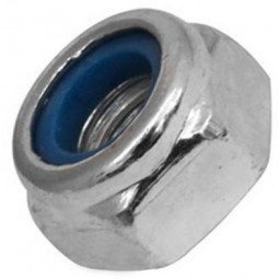 Hexagonal Zinc Plated Nylon Locking Nuts
