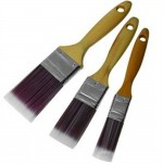 Silverline Paint Brush Premium Pure Bristle Set - 3 Piece