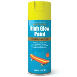 Rust-Oleum Fluorescent Yellow High Glow Spray Paint - 400ml