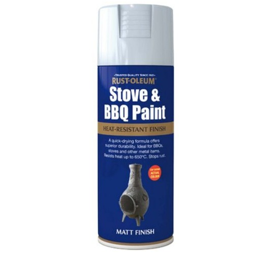 rust oleum stove and bbq heat proof silver spray paint 400ml. Black Bedroom Furniture Sets. Home Design Ideas