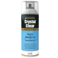 Rust-Oleum Crystal Clear Gloss Spray Paint Protective Top Coat - 400ml