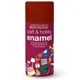 Rust-Oleum Craft and Hobby Enamel Spray Paint Balmoral Red Satin - 150ml
