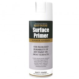 Rust-Oleum Surface Primer White Matt Spray Paint - 400ml