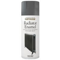 Rust-Oleum Radiator Enamel Spray Paint Cast Iron Finish - 400ml