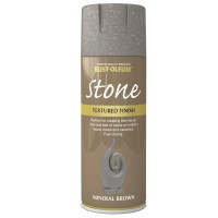 Rust-Oleum Textured Stone Effect Mineral Brown Spray Paint - 400ml