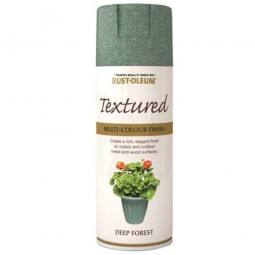 Rust-Oleum Textured Multi Colour Finish Deep Forest Green Spray Paint - 400ml