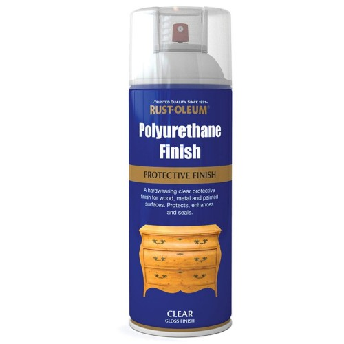 rust oleum polyurethane protective finish clear gloss spray paint. Black Bedroom Furniture Sets. Home Design Ideas