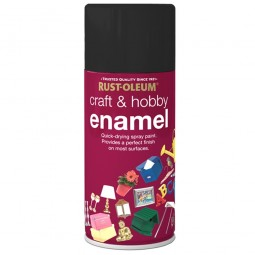 Rust-Oleum Craft and Hobby Enamel Spray Paint Black Matt - 150ml