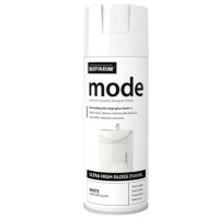 Rust-Oleum Mode Spray Paint Can White Gloss - 400ml