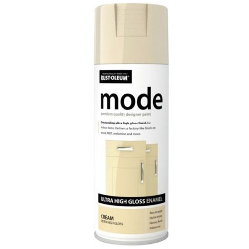 Rust Oleum Mode Spray Paint Can Cream Gloss 400ml
