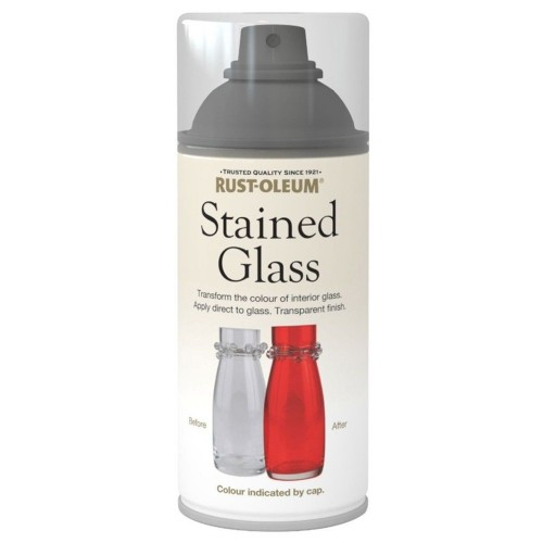 Rust oleum stained glass effect spray paint green for Type of spray paint for glass