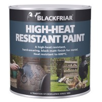 Blackfriar High Heat Resistant Black Paint 600C - 250ml