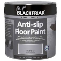 Blackfriar Anti-Slip Floor Paint Indoor or Outdoor 1 Litre Light Grey
