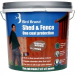 Bird Brand Shed and Fence One Coat Protection Chestnut Brown 5 Litre