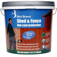 Bird Brand Shed and Fence One Coat Protection Azure Blue 5 Litre