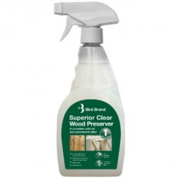 Bird Brand Superior Clear Wood Preserver and Woodworm Killer 500ml