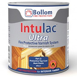 Bollom Intulac Ultra Top Coat Fire Protective Varnish System Matt 500ml