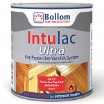 Bollom Intulac Ultra Top Coat Fire Protective Varnish System Satin 500ml