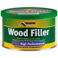 Everbuild Wood Filler High Performance 2 Part White 500g