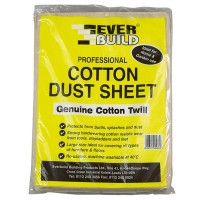 Everbuild Dust Sheet Cotton Twill 3.5 Metre x 2.6 Metre