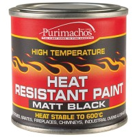 Everbuild Black High Temperature Heat Resistant Paint - 125ml