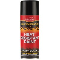 Everbuild High Heat Resistant Black Spray Paint 600 Degrees C - 400ml