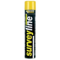 Everbuild Surveyline Line Marking Spray Paint Yellow - 700ml