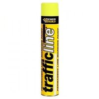 Everbuild Trafficline Line Marking Spray Paint Yellow - 700ml