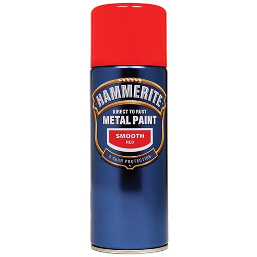 hammerite smooth metal spray paint red 400ml. Black Bedroom Furniture Sets. Home Design Ideas