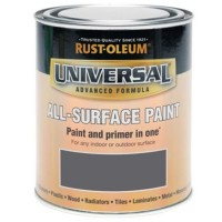 Rust-Oleum All Surface Brush Paint and Primer Slate Grey Gloss - 750ml