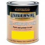 Rust-Oleum All Surface Brush Paint and Primer Canary Yellow Gloss - 750ml
