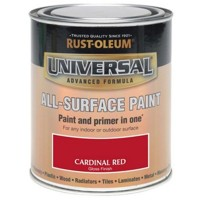 Rust-Oleum All Surface Brush Paint and Primer Cardinal Red Gloss 250ml