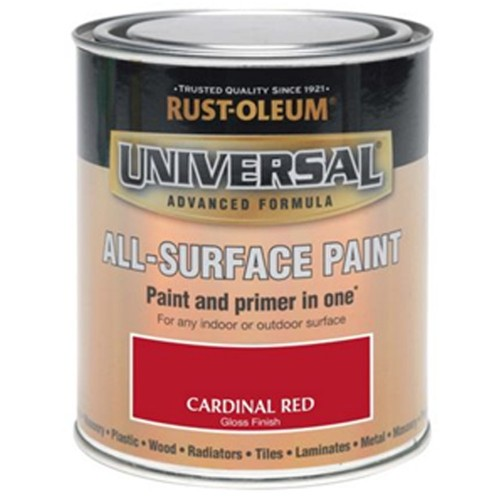 oleum all surface brush paint and primer cardinal red gloss 750ml. Black Bedroom Furniture Sets. Home Design Ideas