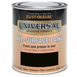 Rust-Oleum All Surface Brush Paint and Primer Black Matt - 750ml