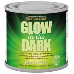 rust oleum glow in the dark bright green brush paint 125ml. Black Bedroom Furniture Sets. Home Design Ideas