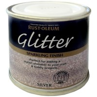Rust-Oleum Toy Safe Glitter Brush Paint Silver Sparkling Finish - 125ml