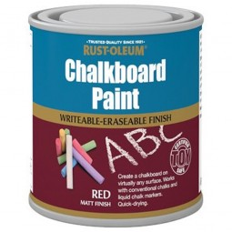 Rust-Oleum Red Chalkboard Paint Matt Finish - 250ml
